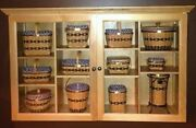 Longaberger Jw Collection Miniature Baskets And Cabinet In Mint Condition