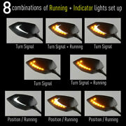 Mirrors Lucifer Dual Led Neat Stem Oi Flasher Rate Control Relay For Street Bike
