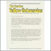 The Beatles 1968 Yellow Submarine King Features Promotional Hand-out Usa
