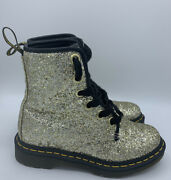 Dr Martens Size Us 5 Gold Sparkly Chunky Glitter Ankle Lace Up Boots