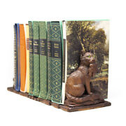 Antique Carved Black Forest Cat Book Stand