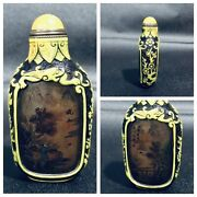 The Story Chinese Snuff Bottles Bottle Inside Painted Glass Inner Carved Glaze