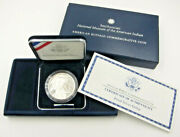 2001 Proof Silver Dollar Us Mint American Buffalo Commerative Coin W/ Case And Coa