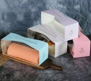 Multicolor Pastry Transparent Simple Classy Thicken Box Birthday Party Packaging