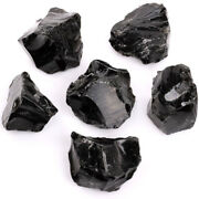Natural Black Obsidian Tumbled Gemstone Rough Crystal Attract Wealth Good Luck