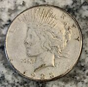 1923-s Peace Silver Dollar Circulated Us Coin