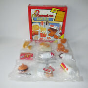 Vintage Shelcore Toys Mcdonalds Happy Meal 30 Piece Food Set 1997 New Sealed