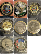 4 Police Challenge Coin Lot. Pics R The Front N Bck Of The Coin. Highway/scooter