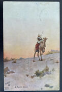 1913 French Post Office Egypt Picture Postcard Cover To Hannover Germany Desert