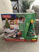 Fisher Price Little People Tree Lighting In Discovery Park Christmas New Sealed