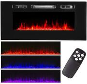 Electric Dual Insert Fireplace Heater Timer Adjustable Flame Remote Control New