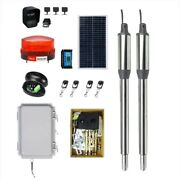 Solar Powered Automatic Dual Swing Gate Door Opener Closer Security System Kit