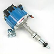 Pertronix D1352 Flame-thrower Distributor Hei For Ford Small Block Blue Cap