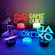 3d Night Lamp Gaming Room Desk Setup Lighting Decor On The Table Game Console Ic