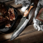 Handmade Forged Chef Knife Kitchen Butcher Cleaver Chopper Meat Cut Collectible