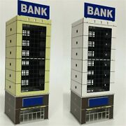 1150 1144 N Scale Construction Architectural Model Building Bank Abs Plastic