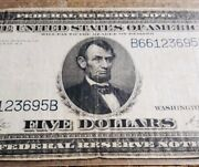 1914 5 Five Dollar - Blue Seal - U.s. Large Size - Federal Reserve Note