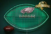 Pro Football-wire Art-man Cave And Sports Bar Art-dimmable Led Lights-father's Day