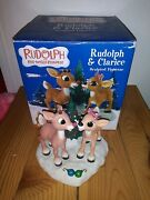 Enesco Christmas Rudolph The Red Nosed Reindeer And Clarice Figurine