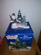 Enesco Sam The Snowman Rudolph The Red Nosed Reindeer Figurine
