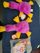 Ty Beanie Babies Two Patti The Platypus Included With Rare Mcdonald's Patti