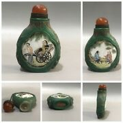Collection Old Chinese Glass Snuff Bottle Bottles Qing Carving Fish Rare Gifts