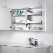 Kitchen Cabinet Adjustable Pull Down Shelving Easy Reach Shelves Retractable