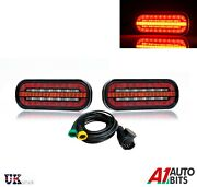 2x Rear Led Lights 3 Functions Running Indicator Stop + 5m Wiring Harness 13 Pin