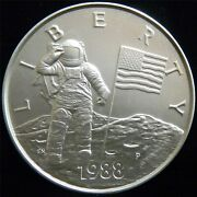 1988 America In Space Troy Half Pound Silver Round - 6 Oz. Of .999 Silver Ap70