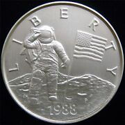 1988 America In Space One Troy Pound Silver Round - 12 Oz. Of .999 Silver Ap71