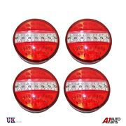 2 Pairs 24v Led Rear Tail Lamp Lights Stop Indicator Trailer Truck Lorry Chassis