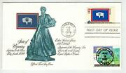 State Of Wyoming Dual Fdc 1676 Statehood + 2980 Womens Rights 19th Amendment
