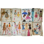 Lot Of 8 Vintage Mccalls Sewing Patterns   Girl Toddler Dresses And Womens Designs