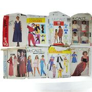 Lot Of 8 Vintage Mccalls Sewing Patterns   Womens Jackets, Pants, Costumes, More