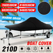17-25 Ft Waterproof Boat Cover Marine Grade 210d Fits V-hull Center Console Boat