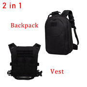 2in1 Tactical Vest Backpack Military Swat Police Airsoft Hunting Combat Assault