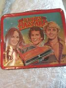 Vintage 1980 The Dukes Of Hazzard Metal Aladdin Lunch Box Used And Aged Some Scrat