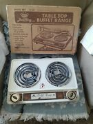 Vtg Broil-king Br7 Double Buffet Range Burner Electric - Unused - Made In Usa-