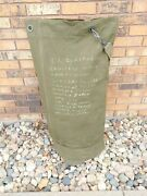Vtg Us Military Green Canvas Heavy-duty Large Duffle Bag - Traveled The World