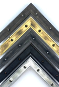 Industrial Nail Head Picture Frame , Black, Gold, Silver, 1 1/8, Handmade