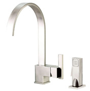 Danze D401544ss Sirius Single Handle Kitchen Faucet With Matching Brass Side Spr