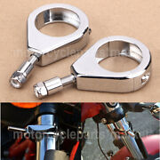 Turn Signal Light Fork Relocation Clamp For Harley Dyna 93-11 Fxdf Fxdb Fxdc