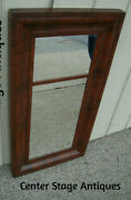 60466 Antique Empire Mirror In Mahogany Picture Frame