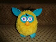2012 Furby Boom Bright Yellow Turquoise Blue Electronic Interactive Chatty Toy