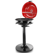 Better Chef 15 In. Electric Barbecue Grill Red Adjustable Thermostat Patio Deck