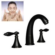 8 Split Three-hole Faucet Kit Bathroom Sink Faucet Waterfall Kitchen Faucets