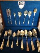 Vintage S And R Four Star Flatware Chest With Assorted Silverware Used