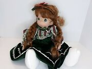 2004 12th Edition Precious Moments Christmas Stocking Doll Holly Belle 1155
