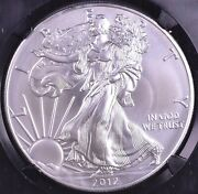 2012-w American Silver Eagle Burnished - Ngc Ms70