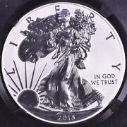 2013-w American Silver Eagle Reverse Proof - Ngc Pf70 Early Releases
